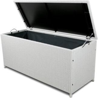 Dynbox i konstrotting till utemöbler - Vit