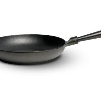 Gense Le Gourmet Stekpanna med Stålhandtag Rund Kant D: 28 cm Gjutjärn