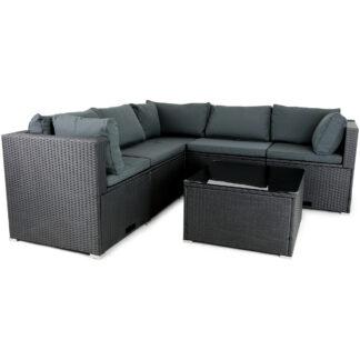 Loungeset utemöbler | Smart inbyggd förvaring | Konstrotting