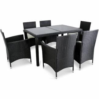 Matgrupp utemöbler | 6 stolar | Inklusive dynor