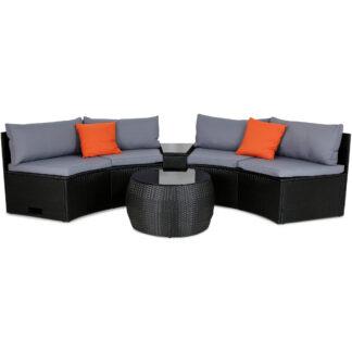 Rund loungegrupp | Smart inbyggd dynförvaring