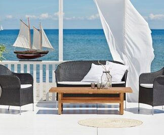 Sika Design Athene loungegrupp - 4-delsset, inklusive sittdynor