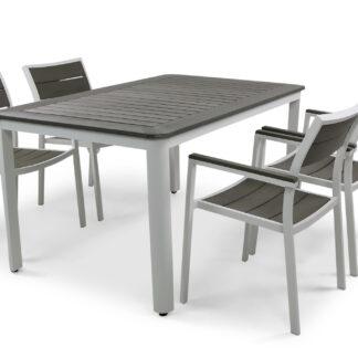 Underhållsfria utemöbler - Orust 150cm inkl. 4 stolar