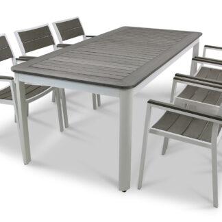 Underhållsfria utemöbler - Orust 200cm inkl. 6 stolar