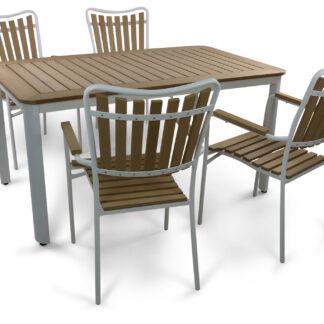 Underhållsfria utemöbler - Skanör 150cm inkl. 4 stolar