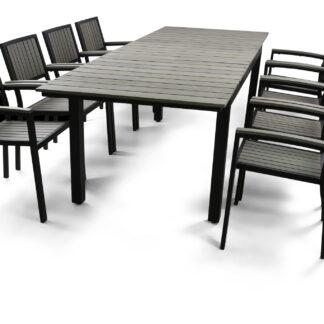 Underhållsfria utemöbler - Waxholm 180-240cm inkl. 8 stolar