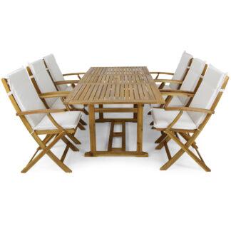 Utemöbler - förlängningsbart bord + 6 stolar