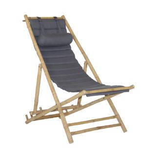 Dreamer strandstol bambu grå
