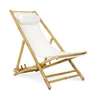 Dreamer strandstol bambu vit