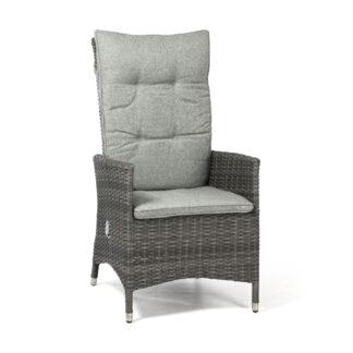 Georgia Lyx positionsstol antracitgrå med ljusgrå dyna