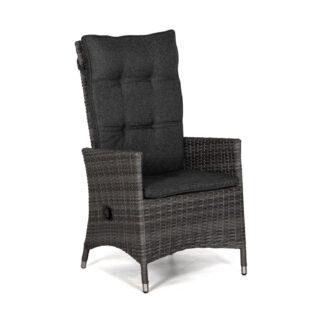 Georgia Lyx positionsstol antracitgrå med mörkgrå dyna