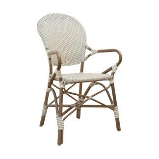 Isabell karmstol aluminium/konstrotting taupe/grå