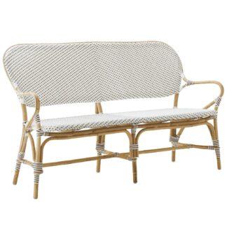 Isabell soffa rotting / vit konstrotting