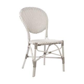 Isabell stol aluminium/konstrotting vit