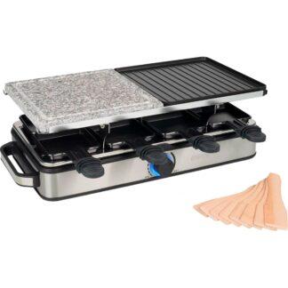 Princess Grill Deluxe sten/aluminium Raclette, 8 personer